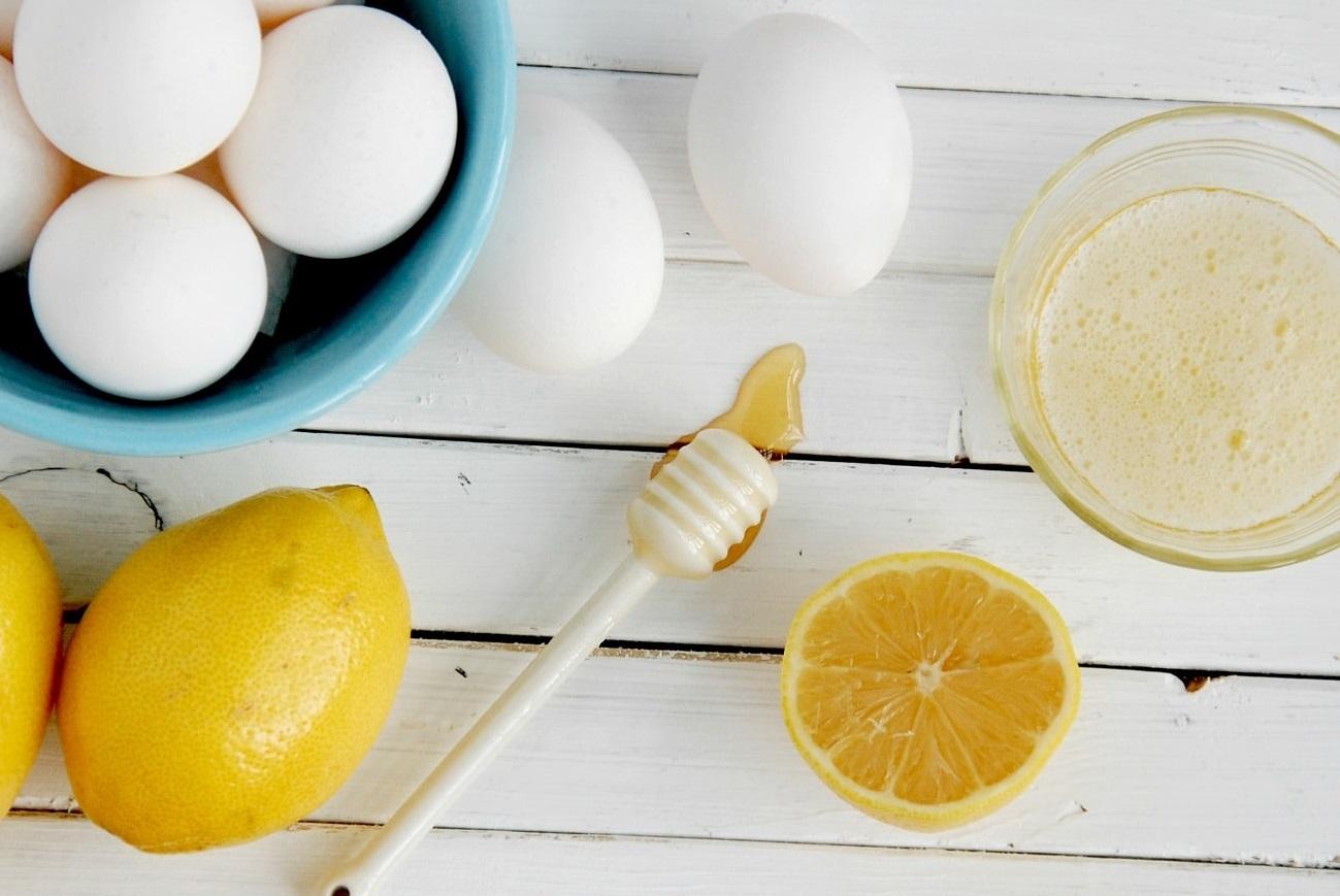 عسل، لیمو، تخم مرغ