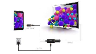 تصویر از روش های اتصال گوشی به تلویزیون با شارژر