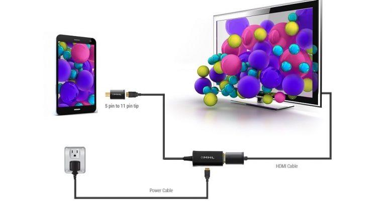 اتصال گوشی به تلویزیون با شارژر