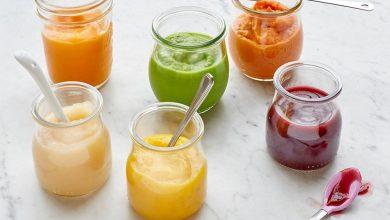 پوره میوه ها برای نوزاد