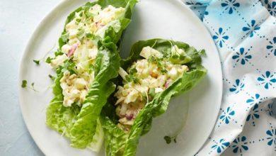 سالاد سبزیجات و تخم مرغ