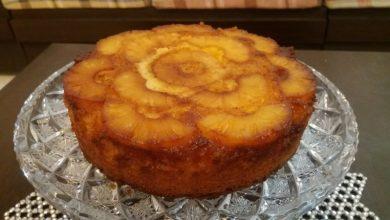 کیک آناناس کاراملی