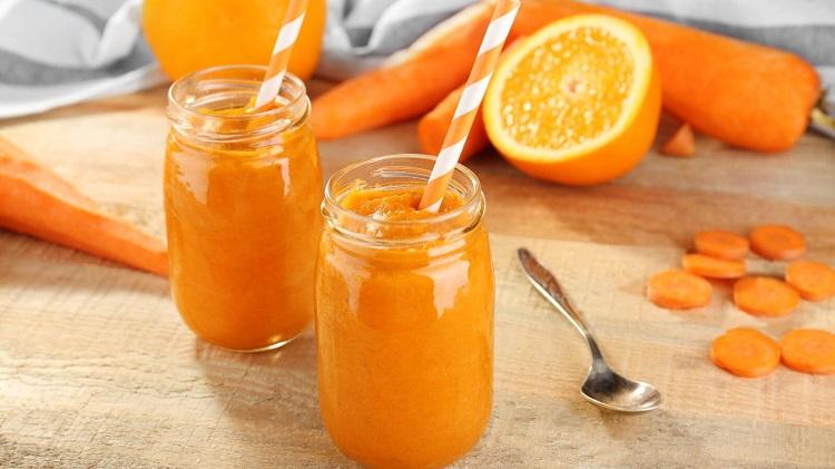 نوشیدنی هویج و پرتقال