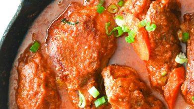 خورش مرغ با فلفل دلمه ای و هویج