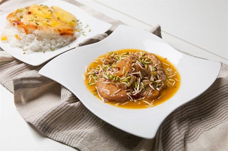 خورش هویج و پسته سمنان