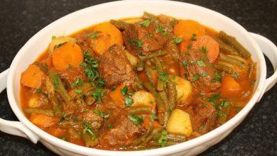 تصویر از طرز تهیه خورش لوبیا سبز با گوشت و هویج