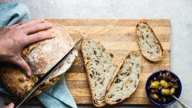 تصویر از طرز تهیه نان زیتون و پنیر