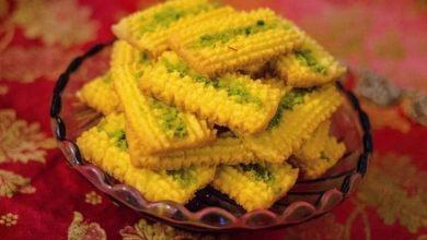 شیرینی نان چرخی قزوین