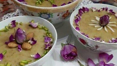 تصویر از گل پالدو؛ طرز تهیه دسر گل پالدو (فرنی گل محمدی)