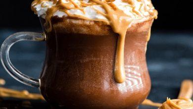 تصویر از طرز تهیه هات چاکلت بادام زمینی، شکلات داغ بادام زمینی