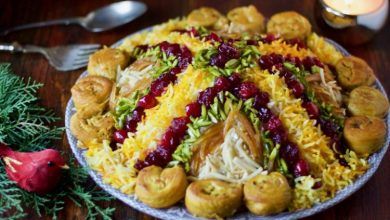 تصویر از طرز تهیه مرصع پلو با مرغ مجلسی و خوشمزه