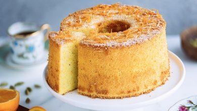 تصویر از کیک شیفون؛ طرز تهیه کیک شیفون ساده برای خامه کشی