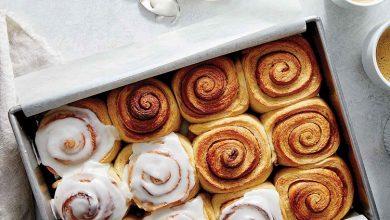 تصویر از رول دارچینی؛ دستور پخت نان رول دارچینی خانگی با تصویر