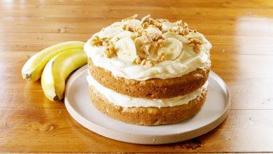 کیک موز خامه ای