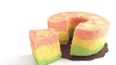 کیک شیفون چند رنگ