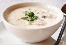 تصویر از سوپ سفید؛ طرز تهیه سوپ سفید خوشمزه مجلسی