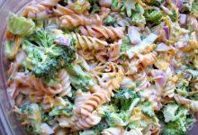 تصویر از طرز تهیه سالاد ماکارونی با پنیر چدار و سبزیجات