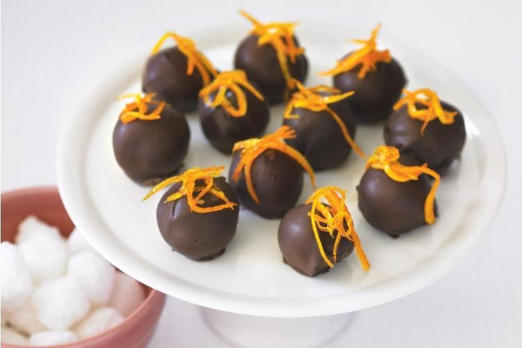 ترافل شکلاتی پرتقالی