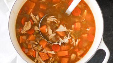سوپ مرغ خوشمزه