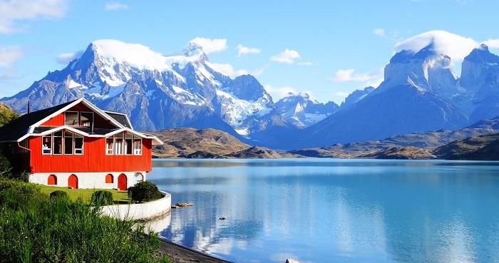 دریاچه پهوئه (Pehoe) در کشور شیلی