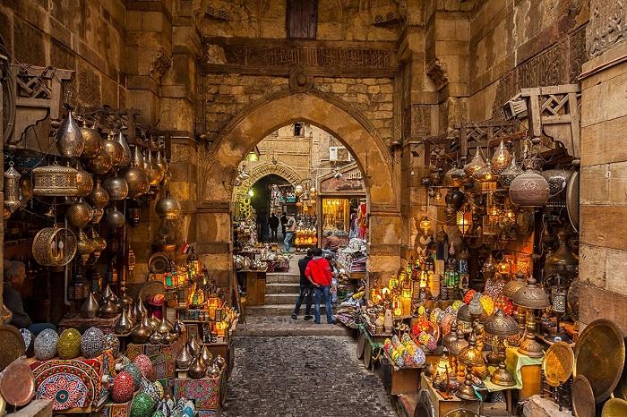 بازار خان الخلیلی (Khan El-Khalili) در کشور مصر