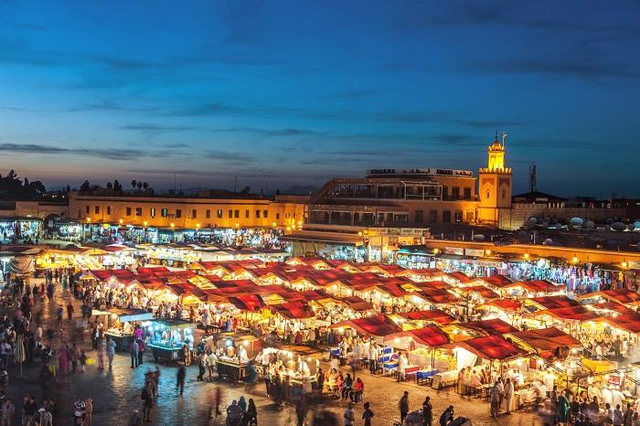 میدان Djemaa El-Fna در کشور مراکش