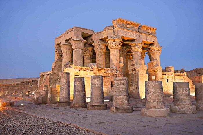 بنای تاریخی Kom Ombo در مصر باستان