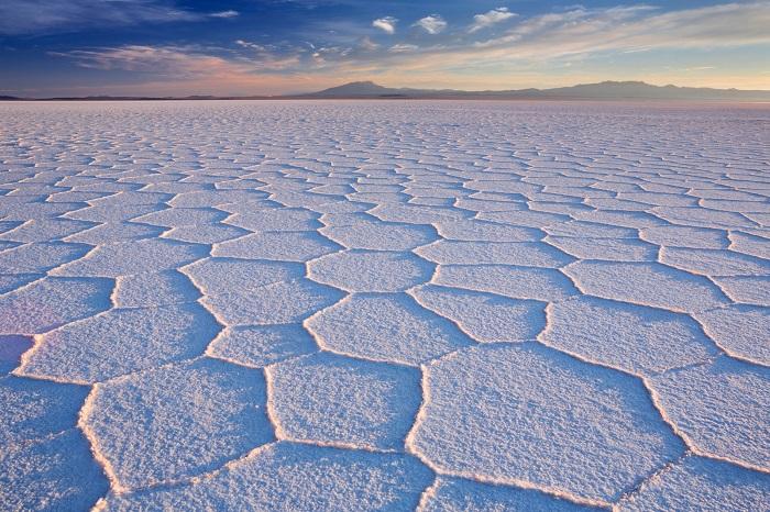 فلات نمکی (Uyuni) در کشور بولیوی