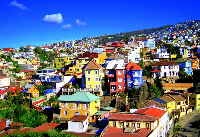شهر والپارایسو (Valparaiso) در کشور شیلی