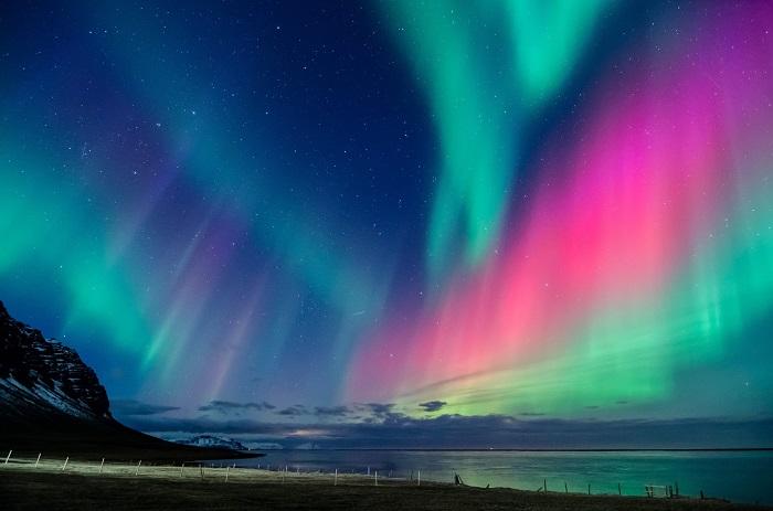 نورهای شمالی (Northern Lights) در ایسلند