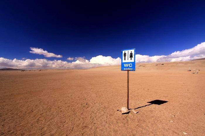 توالت صحرایی، سیلولی، بولیوی