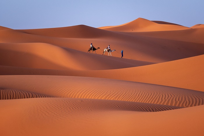 تپه های شنی ارگ چبی (Chebbi) در کشور مراکش
