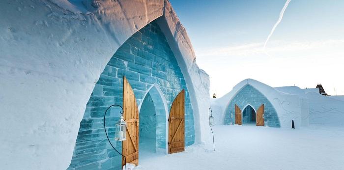هتل دی گلاس (hotel de glace) در کشور کانادا