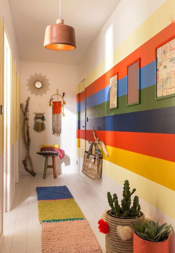 مدل رنگ دیوار راه راه