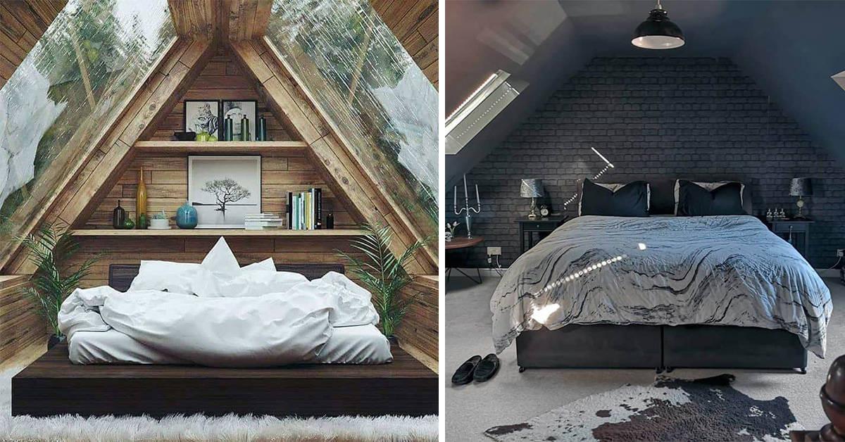 دکوراسیون اتاق خواب زیر شیروانی