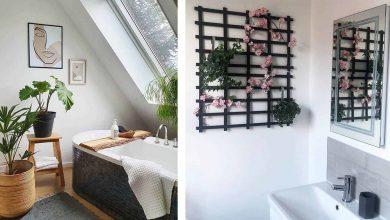 تزیین حمام و سرویس بهداشتی با گل