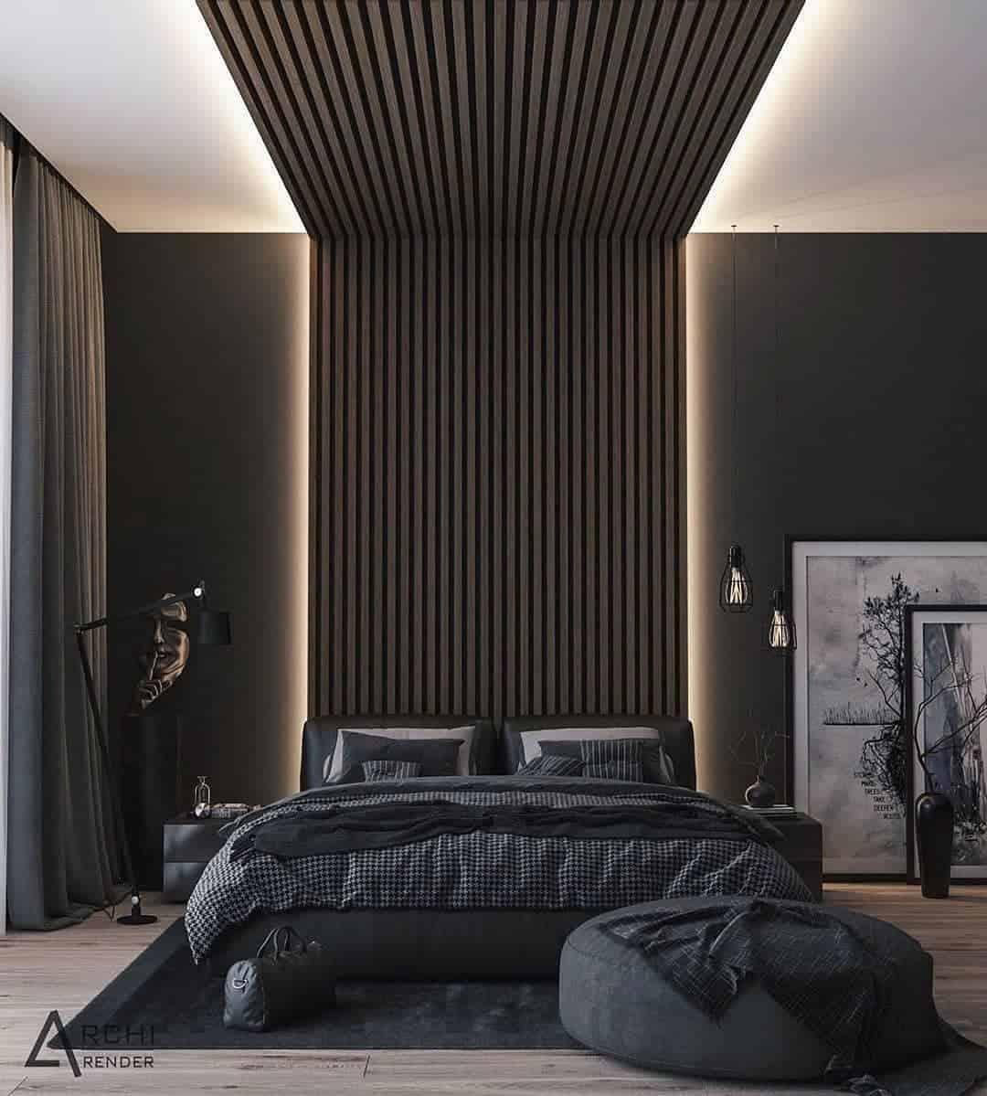 دکوراسیون اتاق خواب تاریک