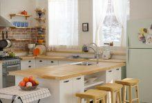 مدل پیشخوان آشپزخانه چوبی