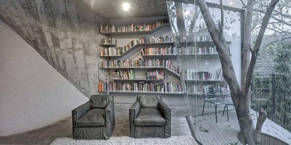 دکوراسیون کتابخانه خانگی
