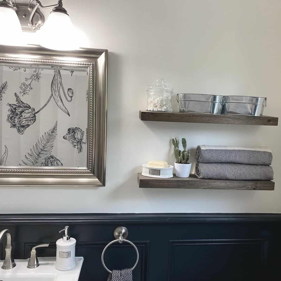 ایده چینش قفسه حمام
