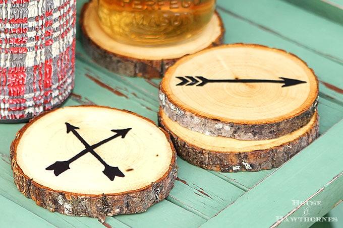 ایده ای زیر لیوانی با چوب
