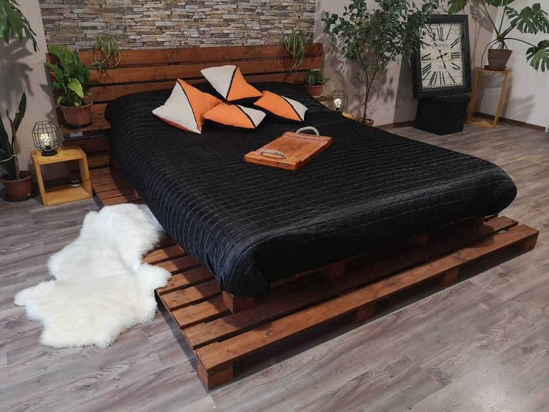 طراحی تختخواب با پالت های چوبی