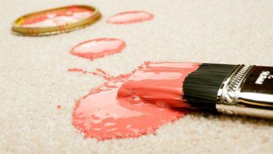پاک کردن لکه رنگ از روی فرش