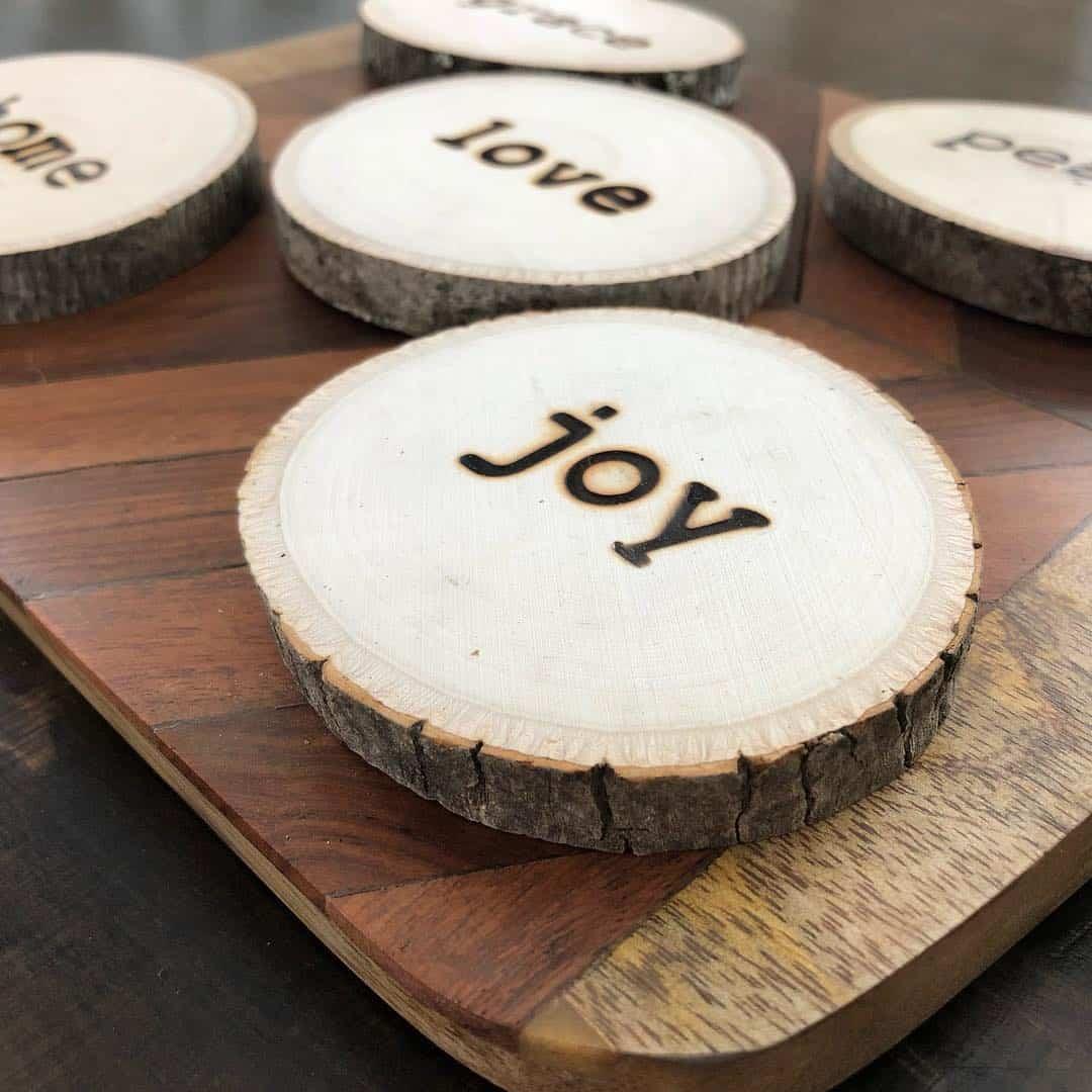 ایده زیر لیوانی چوبی سوخته نگاری شده