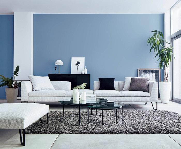 ایده اتاق نشیمن آبی