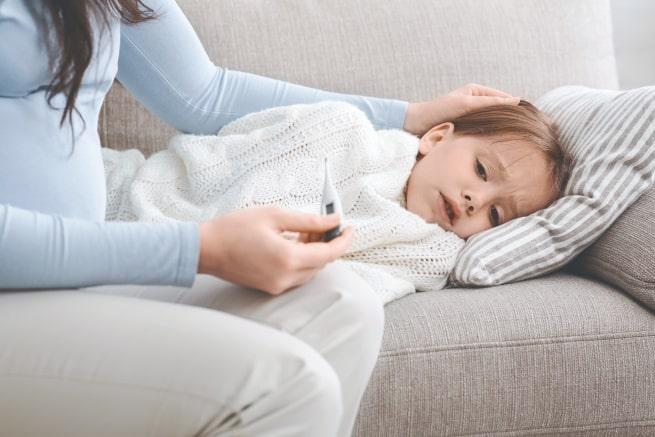 کنترل تب کودک
