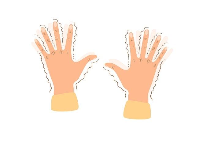 کاهش لرزش دست